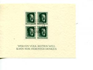 Germany #B102  used with scarce Lorch First Day of issue cancel