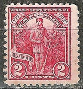 U.S. 1927 Vermont 150th Scott #643 Used WYSIWYG Lot