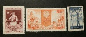 China(PRC),Scott#237-238 & 241 MNH MGAI