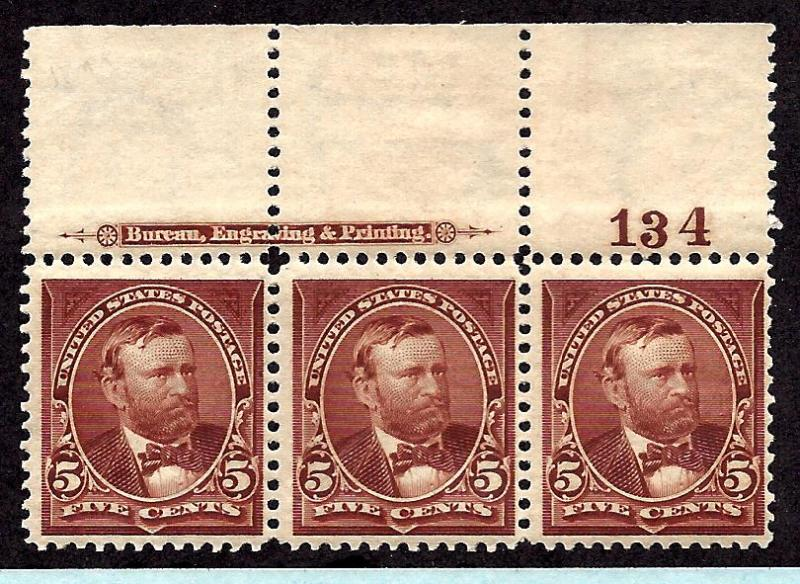 270 Mint,OG,NH... Strip of 3... SCV $315.00