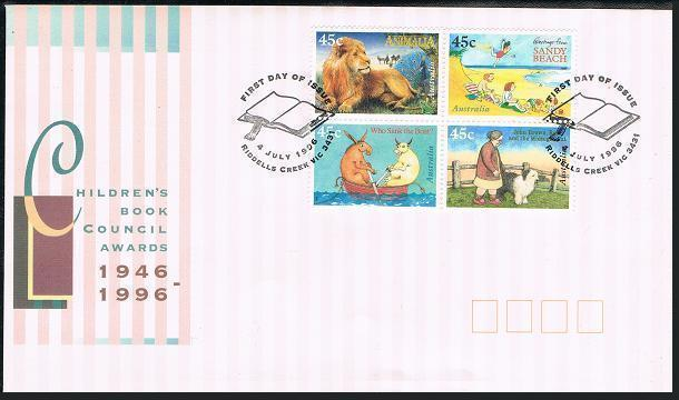 Australia 1547a block,FDC. Children book Council-50.Covers from BOOK OF THE YEAR