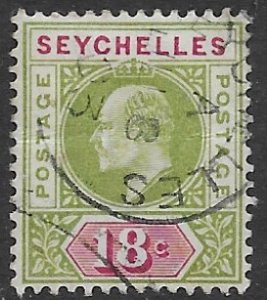 Seychelles  43   1903   18c   VF Used - ( creased )