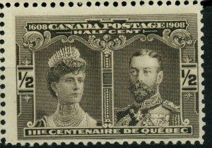 #96 half cent Tercentenary MAJOR RE-ENTRY  Cat $105+ Canada mint