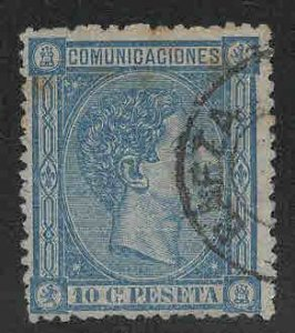 SPAIN Scott 214 Used  stamp nice town cancel