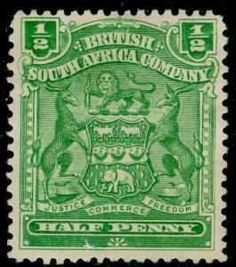 RHODESIA SG75a, ½d yellow green, UNUSED.