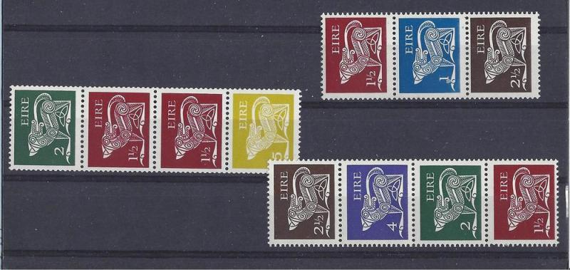 Ireland, 294bc,297ab,298be, Various Designs Strips,**MNH**