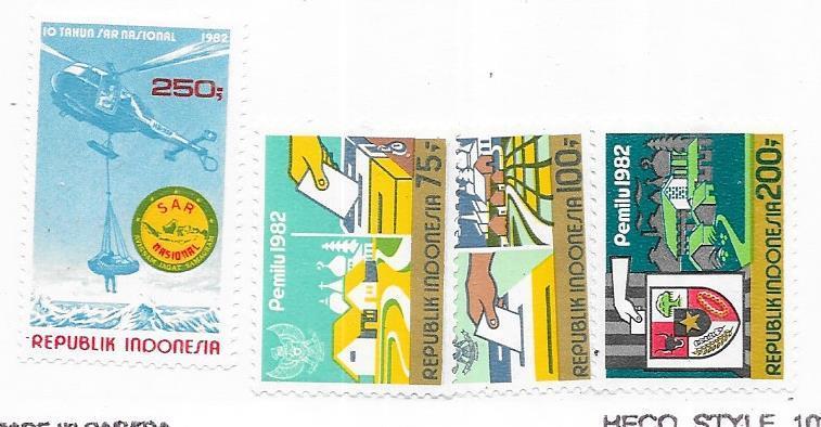 Indonesia  #1170-1173 set complete   (MLH)  CV $4.65