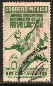 MEXICO 767, 10cents National Games, Javelin thrower Used. VF. (708)