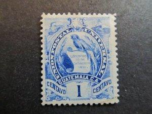 A4P10F19 Guatemala 1886 Litho 1c mint no gum