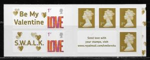 Great Britain 2427b Love Booklet MNH