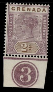 GRENADA QV SG50, 2d mauve and brown, NH MINT. Cat £40. CONTROL