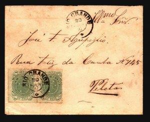 Brazil SC# 100 Pair on 1892 Cover to Pelotas - Z19401