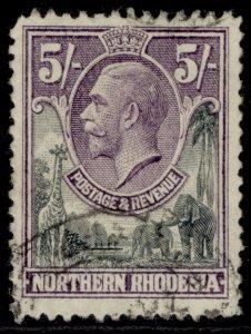 NORTHERN RHODESIA GV SG14, 5s slate-grey & violet, FINE USED. Cat £19.