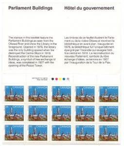 Canada - 1987 36c Parliament Complete Booklet #BK94 - Library in Foreground - VF