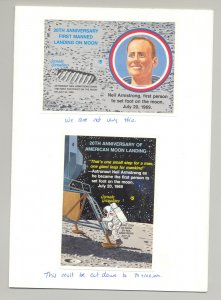 Grenada Grenadines #1075-1076 Space Moon Landing 2v S/S Imperf Proofs in Folder