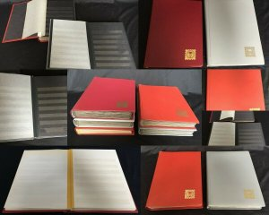 Black +White Page Large Stockbooks x 5 (Appx 150 Sides(7.4kg)K24