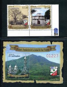 Salvador 1704-1705, MNH, City of San Vincente 35th Ann. 2010. x31074