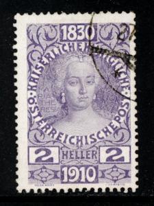 Austria 1910  Scott #129 used (CV 16.00)