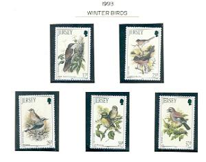 Jersey  Sc 646-50 1993 Birds stamps mint NH