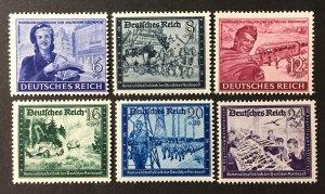 Germany  1944 #B272-7(See Note), MNH, CV $3