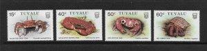 CRABS - TUVALU #348-51  MNH