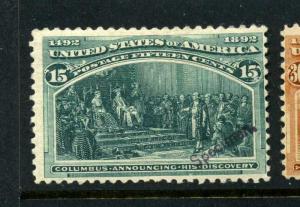 Scott #238S Columbian Specimen Stamp (Stock #238S-1)