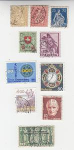 Switzerland small collection of 10 high catalog value used, incl. 200 and 3O82