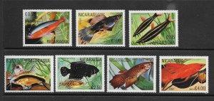 FISH - NICARAGUA #1120-4,C983-4  MNH