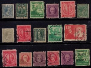 CUBA (1878-1935) LOT OF 38 USED & MINT BATCH F-VF