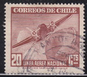 Chile C72 Plane & Globe 1943