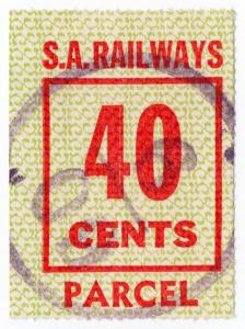 (I.B) Australia - South Australia Railways : Parcels Stamp 40c