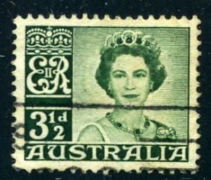 Australia - Scott #317 - 3½ d - Queen Elizabeth II - Used
