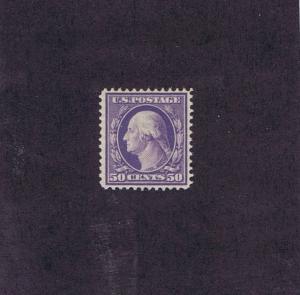 SCOTT# 341 UNUSED OG HINGED 50 CENT WASHINGTON, 1909.  GOOD CAT VALUE, LOOK