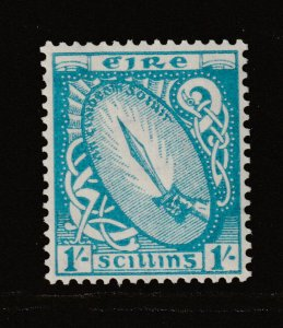Ireland a LHM 1/- from the 1940 (2nd watermark) set