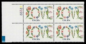 PCBstamps    US #1951 PB 80c(4x20c)Love, Perf. 11.25, 1982, MNH, (PB-1a)