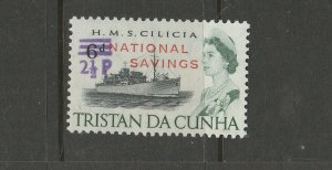 Tristan Da Cunha 1971 National savings 2 1/2p Opt UM/MNH SG F2