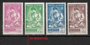 French Algeria 1943,Surtax for Prisoners of War,Sc # B39-B42,VF MNH**/1 VF MVLH