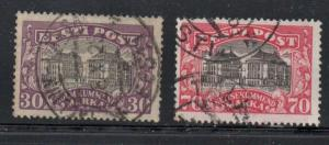 Estonia Sc 81-2 1924 National Theatre stamp set used