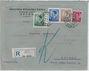 37123   YUGOSLAVIA Bosnia -  POSTAL HISTORY:  REGISTERED COVER from Brčko 1940