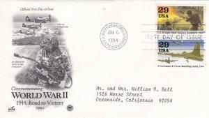 1994, WW2: 1944, Road to Victory, Artcraft/PSC, FDC (E9214)