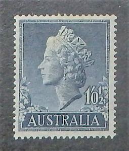 Australia 279. 1955 1/- 1/2p QE