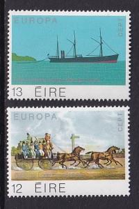 Ireland   #463-464  MNH  1979 Europa postal history  long car  steamer