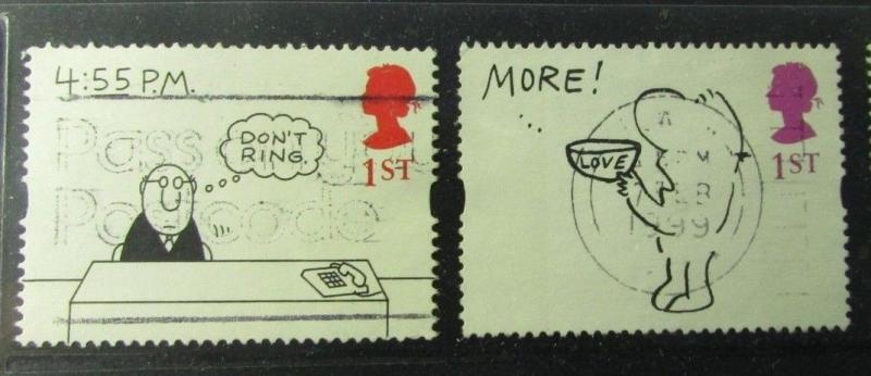 2001 Great Britain SC #1643-52 Complete  used stamp set