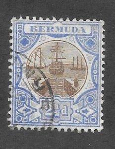Bermuda Scott #37 Used  2 1/2p Dry Dock 2017 CV $9.50