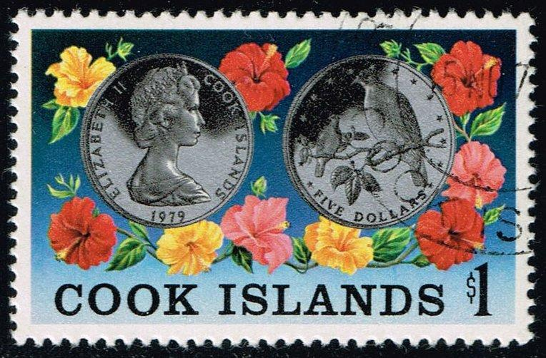 Cook Islands #536 Coin of Rarotonga Fruit Dove; CTO (1.75)