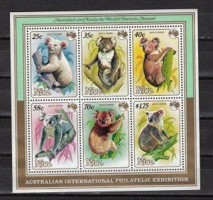 NIUE -  1984 Airmail - International Stamp Exhibition AUSIPEX '84 - Mel  M2145