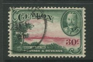 Ceylon #272  Used  1935  Single 30c Stamp