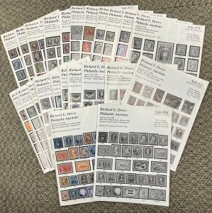 Richard E. Drews Philatelic Auction Lot of 23 issues Sale #14-17/19-26 '97-01