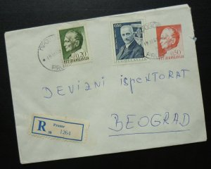 Yugoslavia 1968 Uprated Registered Postal Stationery from Bosnia to Serbia A4