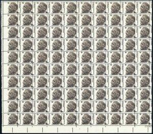1284, Misperfed Sheet of 100 6¢ FDR Stamps Mint NH - Stuart Katz